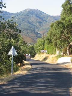 Road from Villelongue to Montesquoi - ideal for testing those bicycles