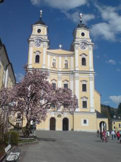 Nearby Mondsee Church - A must for Sound of Music fans!