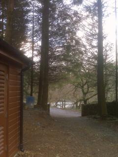View via drive to Snowdonia National Park lake
