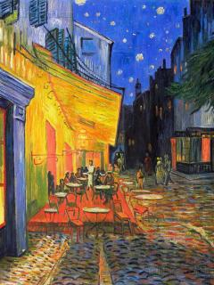 Vincent Van Gogh 'cafe terrace place du forum arles night' (nearby)