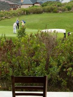 Our home overlooks the 17th hole on the Pezula golf course