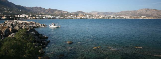 The beautiful Makrigialos Bay