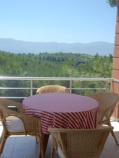 The balcony on the first floor has great views and excellent for breakfast and afternoon drinks