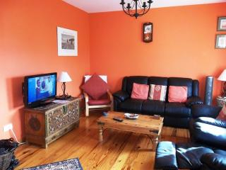 Lounge, with flat screen TV, freeview channels & digital recorder