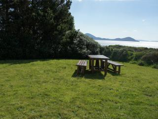 Picnic area at back of house