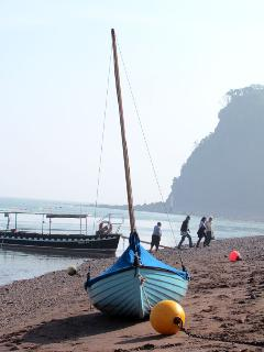 Beautiful Spring day on Shaldon Beach