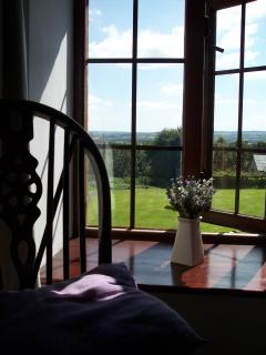 The view from the double bedroom window, a lovely peaceful spot to sit and read a book