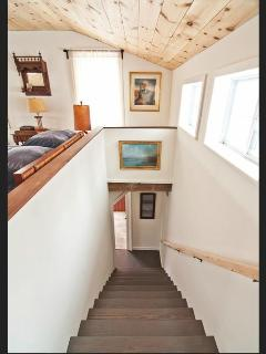 Stairs from master bed to kitchen