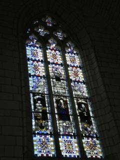 Stained glass window in the Church within Chateau d'Angers