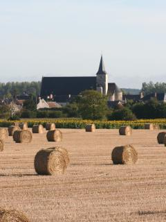 Harvest time view of the Village from the Garden