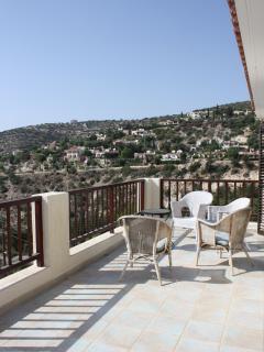 Main balcony - sunbathing space and seating