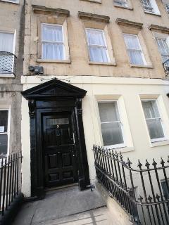 The imposing front door.
