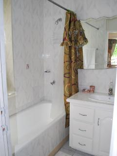 Bathroom changed to full shower no bath,