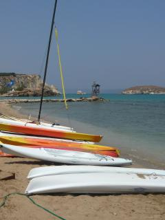Almyrida beach with many watersports available