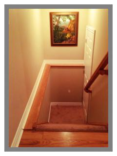 Stairway to Basement (where the Laundry is)