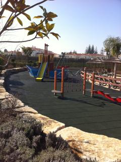 Enclosed childrens play area at Baia da Luz.