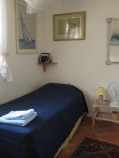 First floor twin bedroom with large single beds