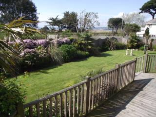 Garden and west view with decking in the foreground