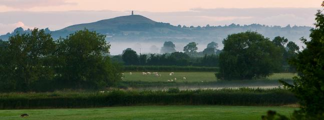 View looking towards Glastonbury Tor (roughly 6km North North West)