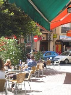 Loads of street cafes and tapas bars on your doorstep