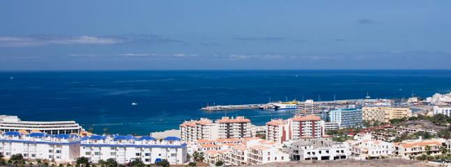 Los Cristianos from nearby hill