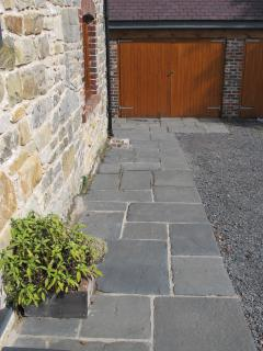 Paved entrance to Talwrn Glas