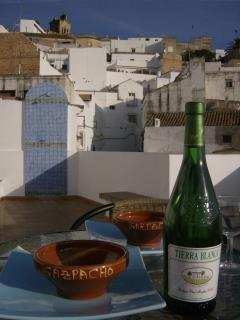 Large roof terrace perfect for gazapacho & local wine