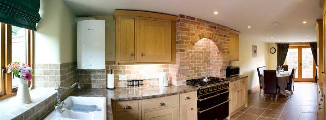 Superbly equipped oak kitchen with Falcon Range cooker