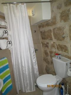 Natural stone shower room