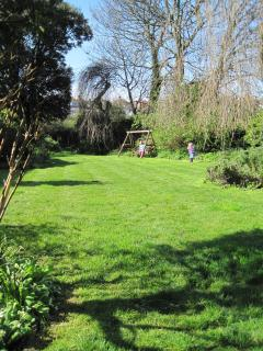 Spacious private garden - makes a great change from the beach!