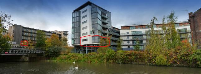 View showing Ironworks development. Flat/apartment & Greenway Olympic Park entrance highlighted in r