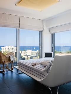 Upstairs double bedroom with spectaculat view and en-suit bathroom