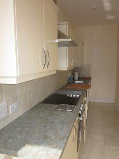 High specification modern kitchen ideal for self catering, with everything you need, apparently!