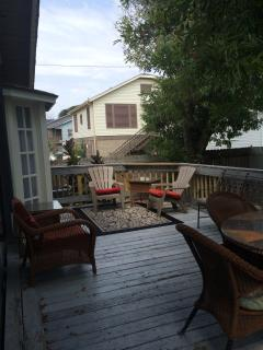 Seating area on large deck
