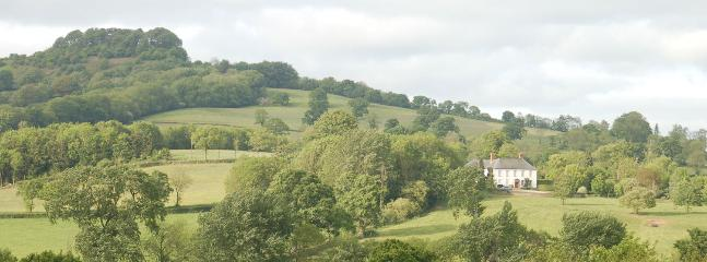 Woodhayes Farm from Honiton with Dumpdon Hill fort in the distance