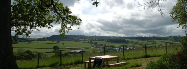 View of the Blackdown Hills from the BBQ area