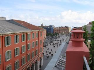 Great views over the Place Massena and Nice