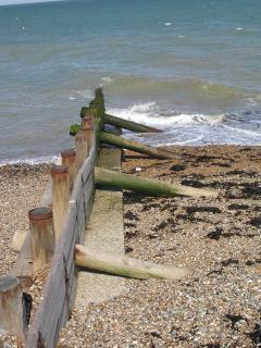 Groyne on beach