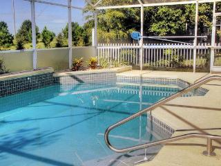 South facing 30ft swimming pool gets sun all day.