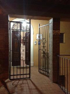 The mai entrance of La Loggia sul Nera (in the night)