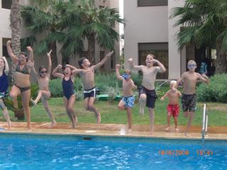 Fun and games at  the pool