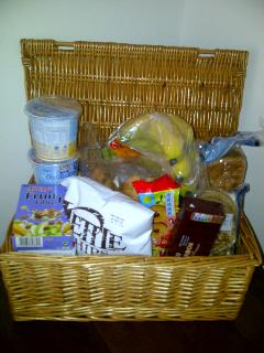 Welcome hamper of essentials (and treats!) on arrival...