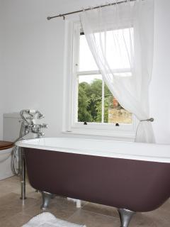 Original bath with a view!