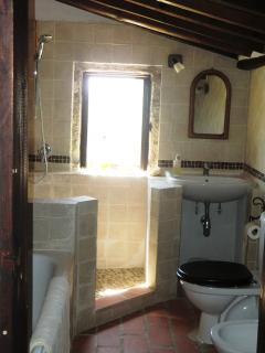 The upstairs  bathroom