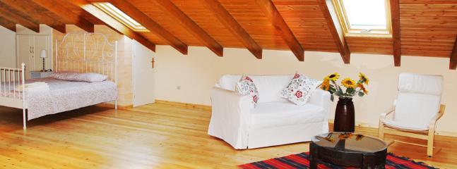 Loft sleeping and sitting area
