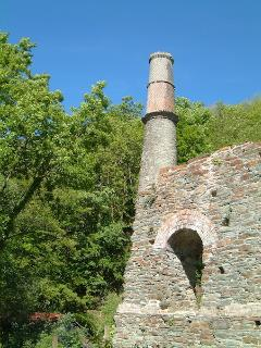 Ruined pumping engine house