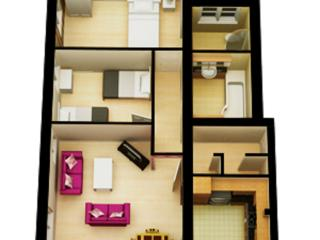 Floor plan for Flat 17 (1st floor)