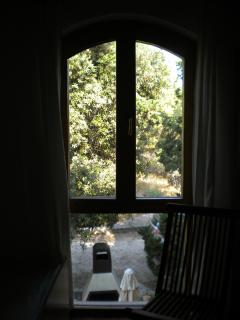 The window in the second bedroom