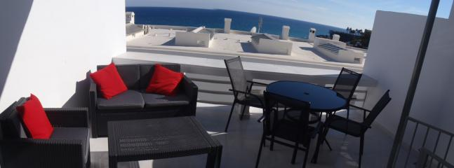 Panoramic view from lounge terrace