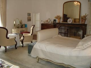 Master Suite with King size upholstered French bed and ensuite bathroom
